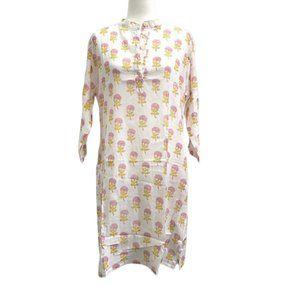 Cotton Hand Block Print Shirt Dress NEW